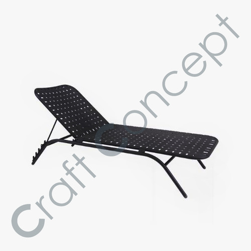 POOLSIDE BLACK METAL CHAIR