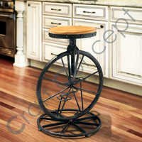 BICYCLE WHEEL METAL STOOL