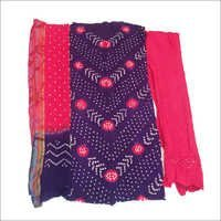 Designer Color Bandhani Dress Materials