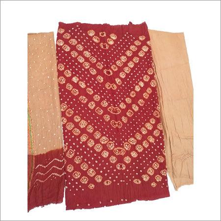 Bandhani Unstitched Designer Suit  Material