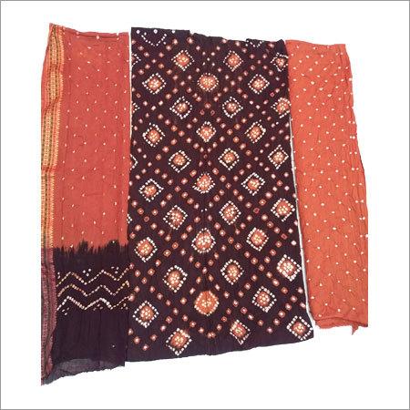 Bandhani Unstitched Dress