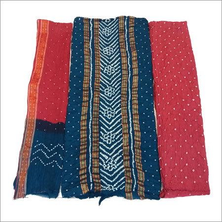 Bandhani Multicolor Unstitched Dress