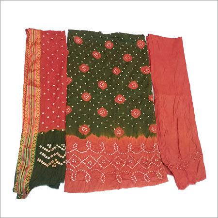 Bandhani Fancy Unstitched Dress
