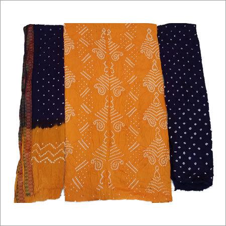 Bandhani Modern Unstitched Dress