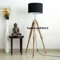 Beautiful Designer Premium Teak Wooden Tripod Floor Lamp