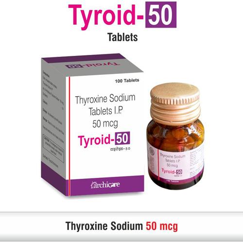 Thyroxine 50 mcg