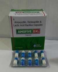 Amoxycillin 250 mg. + Dicloxacillin 250 mg.+Lactobacillus Sporegens 2.5 million spores