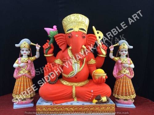 Red Ganesha Statue