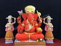 Red Ganesha Statue
