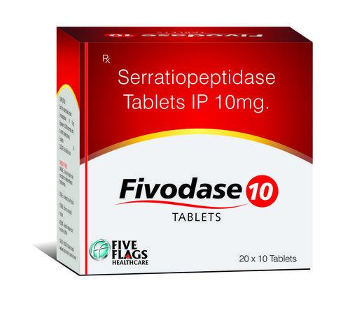 Serratiopeptidase 10 Mg Tablets