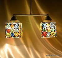 HANGING,MOSAIC GLASS HANGING,DECORATIVE RESIDENTIAL HANGING,GLASS HANGING,FROST GLASS HANGING