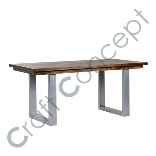 WOOD & METAL OFFICE TABLE