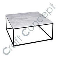 MARBLE & METAL COFFEE TABLE