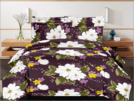 Cotton Double Designer Print Bed Sheet