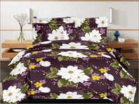 Cotton Double Designer Print Bed Sheet