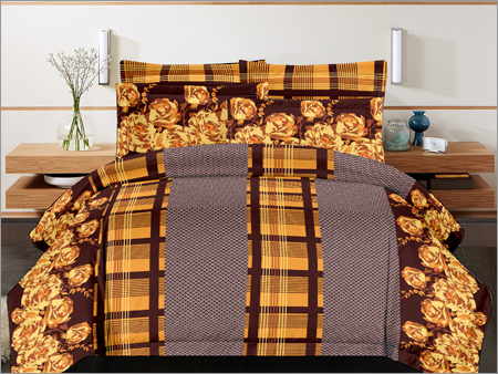 Floral Cotton Double Bed Sheet