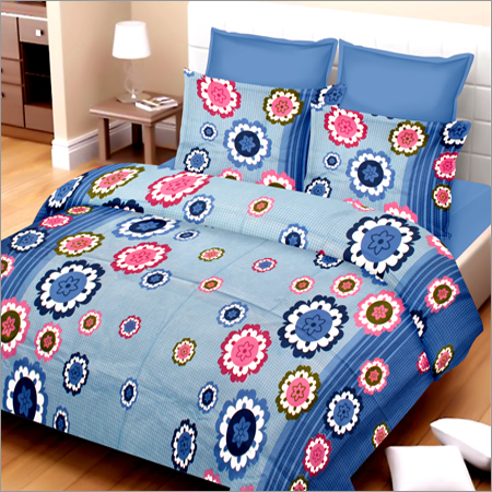 Cotton Double Printed Bed Sheet