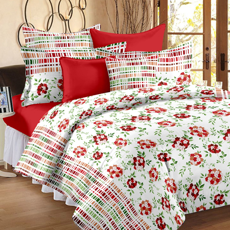 Satin Cotton Double Bed Sheet