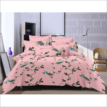 Satin Cotton Double Printed Bed Sheet