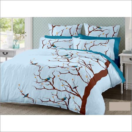 Satin Cotton Double Designer Bed Sheet