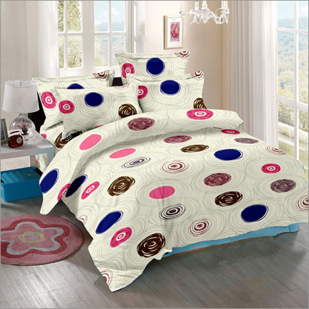 Super Soft Satin Cotton Double Bed Sheet 90
