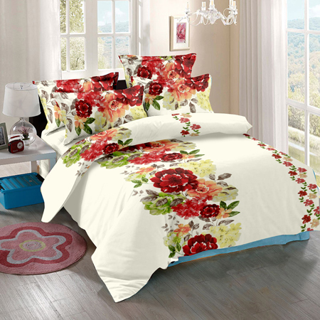 Satin Cotton Printed Bed Sheet