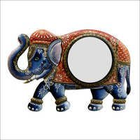 Elephant Shape Multi-Color Mirror Frame