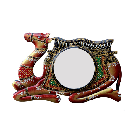 Camel Shape Multi-Color Frame Designer Round Wall Mirror