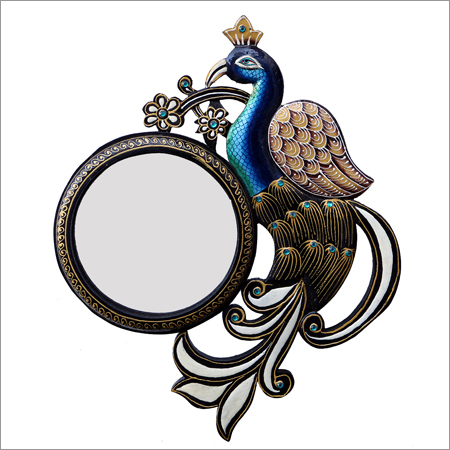 Peacock Shape Multi-Color Mirror Frame