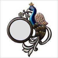 Peacock Shape Multi-Color Mirror Frame