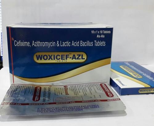 Cefixime 200 mg. + Azithromycin 250 mg+Lactic acid bacillus60 million spores