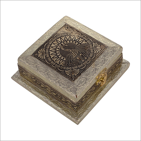 Gold Peacock Dry Fruit Box