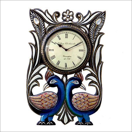 Peacock Design Wall Clock