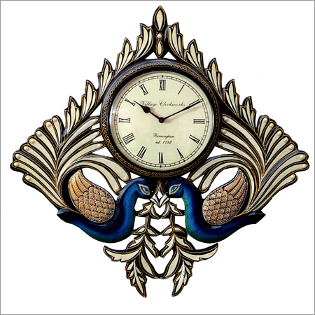 Designer Peacock Design Wall Clock