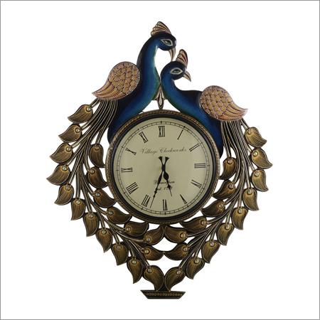 Large Peacock Wall Clock