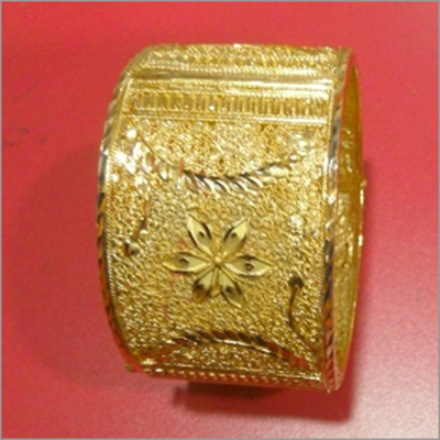 Gold Plated Bangle With Khilan