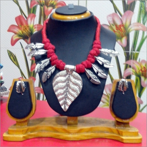 German Silver Set (Neck Piece Plus Earring)