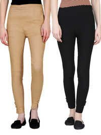 ladies button jegging