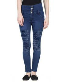 ladies high waist jeans