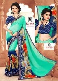 Weightless Dani Printed Saree With Border