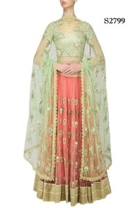 Ladies Fancy Party Wear Lehenga with Work
