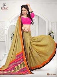 light yellow saree