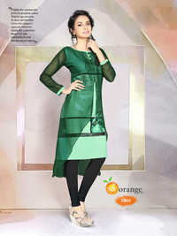 Crepe Digital Printed Kurtis