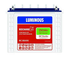 Luminous 150 Amp tubular battery- Red Charge 18000