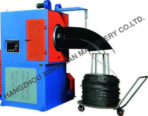 Drop coiler, dead-block coiler for drawing machine