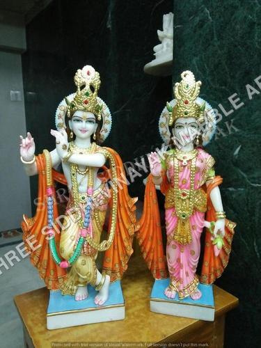Radhe Krishna Marble Statue