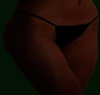 Aromablendz Thongs Black Seamless