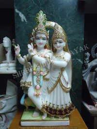 Radhe Krishna Marble Sculpture