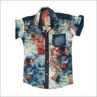 Kids Cotton Printed Shirts