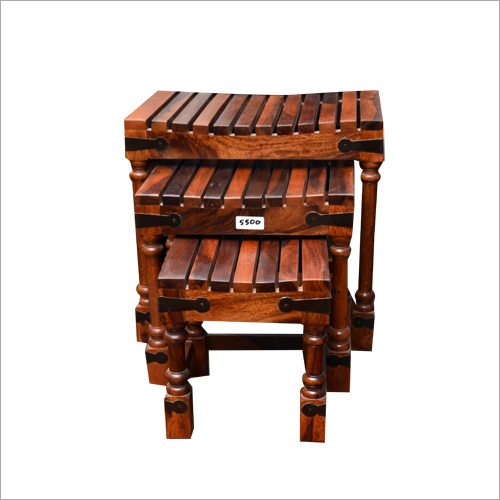 Designer Wooden Stool Set